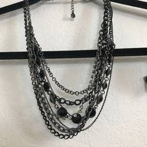 Multi strand necklace in varies lengths and chains